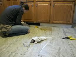 floor tiles installation step 1 a kitchen floor tile installation