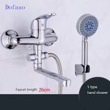 dofaso lange nase outlet messing dusche wasserhahn bad wasserhahn mischer kupfer bad lange tub wasser einfache dusche armaturen