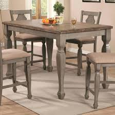 Jeromes Dining Table Classy Coaster Counter Height Two Tone Finish Tables Furniture
