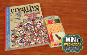 Win It Wed July 8th Giveaway One Hard Covered Creative Therapy An Anti Stress Coloring Book And Set Of Ten Stabilo Pens This Contains Stunning