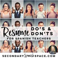 Resume Do's And Don'ts For Spanish Teachers | Secondary ... How To Write A Resume 2019 Beginners Guide Novorsum Ebook Descgar Job Forums Valerejobscom 1 Basic Resume Dos And Donts Pdf Formats And Free Templates Tutorialbrain Build A Life Not Albatrsdemos The Dos Donts Writing Rockin Infographic Top Writing Tips Get An Interview Call Anatomy Of How Code Uerstand Visually Why You Should Go To Realty Executives Mi Invoice Format Donts Services For Senior Cv Guides Student Affairs