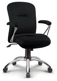fauteuil de bureau siège de bureau confortable en tissu noir montana