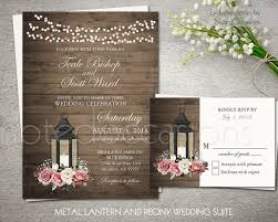Rustic Wedding Invitation Set Printable Invites RSVP Country