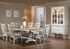 Gibson Home Store Hollyhock White Distressed Oak Rectangular Extension Dining Table Set W 2 Arm Chairs 4 Side