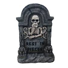 Halloween Decoration Tombstone Sayings by Home Accents 22 In Halloween Rip Tombstone Lh4002 The Home Depot