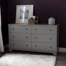 6 Drawer Dresser White by South Shore Vito 6 Drawer Double Dresser Soft Gray