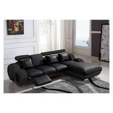 canapé cuir relax canapé d angle cuir relax design noir vilnus achat vente
