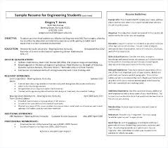 Sample Resume For Freshers Engineers Fresher Engineering Student