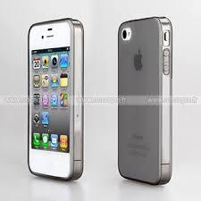 apple iphone 4 transparent gel tpu housse gris
