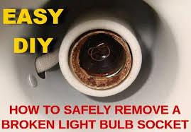 how to safely remove a broken light bulb socket removeandreplace
