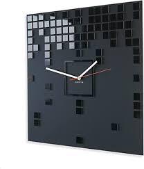 flexistyle moderne wanduhr harmony rechteckig 50 cm schwarz wohnzimmer schlafzimmer