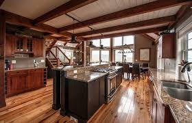 Moose Ridge Lodge Post And Beam Rustic Style Kitchen Ideas