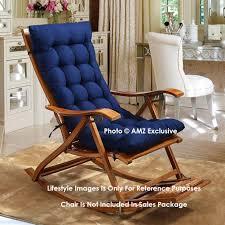 AMZ Exclusive Soft Rocking Chair Cushions Home Cotton Cushion Long Chair  Pad (48 X 16 Inches,Set Of 1) (48 X 16 Inches, Royal Blue)