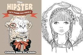 Hipster Animals Coloring Book Awesome Adult Books For Every Personality