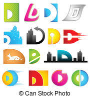 Different words beginning with letter D illustration vector