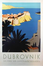 Original 1930s Travel Advertising Poster Dubrovnik Pearl Of Adriatic Yugoslavia At 1stdibs