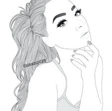 Girl Coloring Pages Best Drawing Images On Drawings Draw And Tumblr Girly Hipster