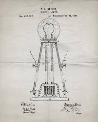 edison light bulb patent print industrialprints