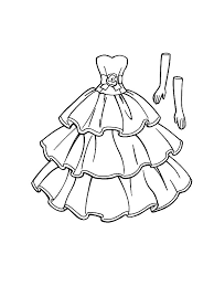 Doll Dress Coloring Pages Sky Page