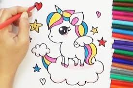 Unicorn Drawing For Kids At GetDrawings Com Free Personal Use X How To Draw Cute Pony Quick And Easy Step By Pandacorn Panda