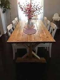 Handmade Reclaimed Pine Farmhouse Refectory Table