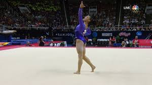 Simone Biles Floor Routine by Simone Biles Takes Full Point Lead At Olympic Trials Halfway Mark