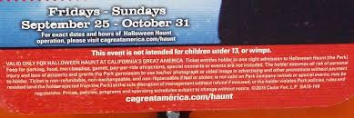 Californias Great America Halloween Haunt 2015 by California U0027s Great America Halloween Haunt General Admission