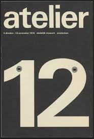 Crouwels Famous Atelier 12 Poster Imlementing Simple And Plain Graphic Design With A Large Sans Seriff Style
