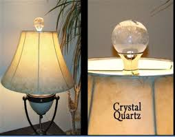 Square Crystal Lamp Finials by Clear Quartz