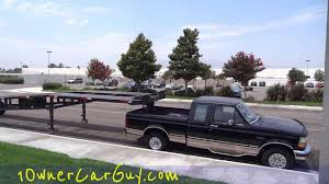 100 Dually Truck Rental WTF Overloaded Hauler 3 Car Trailer 5th Wheel Crazy Under Powered