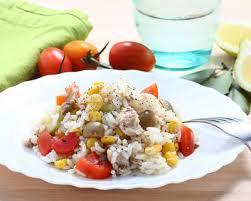 cuisine salade de riz recette salade de riz aux tomates thon maïs et olives facile