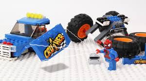 100 Spiderman Monster Truck SpiderMan Block Building Lego Stop Motion Vehicles