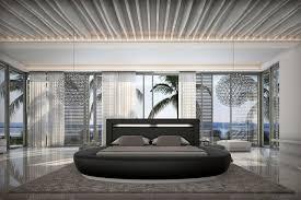 salesfever rundbett mit led beleuchtung im kopfteil design bett in kunstleder lounge bett mit stimmungsvollem licht rundbett kaufen otto