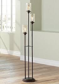 Libby Oiled Bronze 3 Light Seeded Glass Floor Lamp