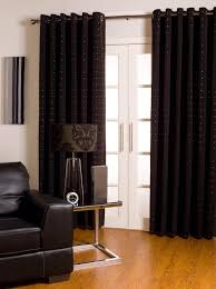 decorations outstanding modern black curtains design ideas with