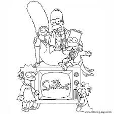 The Simpson Family Coloring Pages Print Download 502 Prints