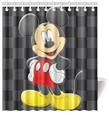 superhaliluyashower vorhang badezimmer custom diy disney minnie mickey mouse wasserdicht duschvorhang standtar größe 66 x 72