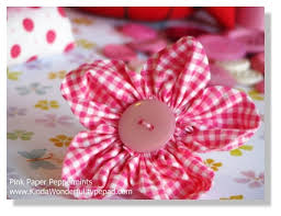 Rounded Petal Fabric Flowers