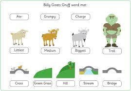 Three Billy Goats Gruff Word Mat