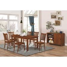 Coaster 7pc Dining Room Furniture Set Casual Design Oak Finish Wooden Table Chair Seat