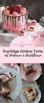 fruchtige torte im ombre look mit himbeeren heidelbeeren