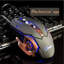 souris pour ordinateur de bureau filaire souris de jeu éclairer couleurs respiration lumière gamer