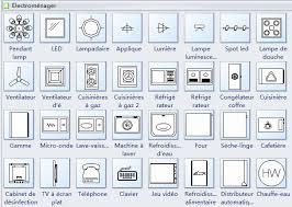 symbole cuisine symboles d électroménagers pour le plan de construction