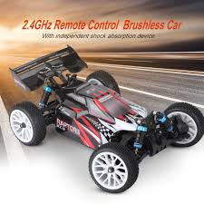 1:16 4WD Electric Brushless RC Car 2.4GHz Remote Control Buggy Truck ...