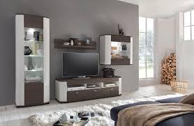 cannock 1 wohnwand anbauwand wohnzimmer va eiche dunkel kiefer weiß