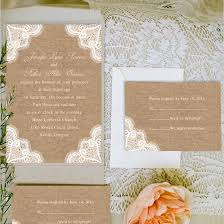 Printable Rustic Burlap And Lace Wedding Invitations EWI244 Cards