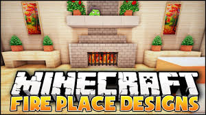minecraft fireplace designs ideas youtube