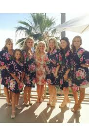 Cotton Bridesmaid Robes Cheap Unique Gifts Navy Kimono Bridal Shower Gift Ideas Party Not Set Of 7 SJP00