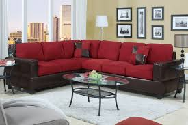 Leather Sofa Living Room Ideas by Red Sectional Couch Amazoncom Beverly Furniture Beverly Red 3
