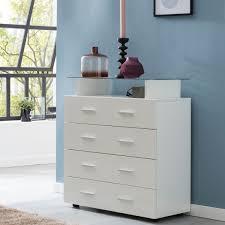 wohnling design sideboard junis weiß hochglanz 76x84x35 cm anrichte holz modern